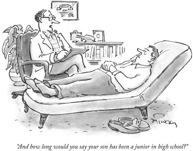 High School Parent Seeing Shrink